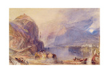 The Drachenfels, Germany, C.1823-24 Giclee Print by Joseph Mallord William Turner
