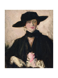 Lady in a Black Hat Giclee Print by Francis Campbell Boileau Cadell