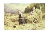 Haytime, C.1860 Giclee Print by Myles Birket Foster