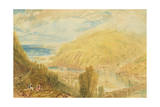 East and West Looe, Cornwall, C.1816 Giclee Print by Joseph Mallord William Turner
