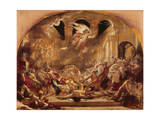 The Destroying Angel and Daemons of Evil Interrupting the Orgies of the Vicious and Intemperate Giclee Print by William Etty