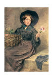 The Flower Girl, 1833 Giclee Print by William Henry Hunt