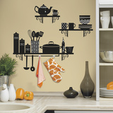 Build a Kitchen Shelf Peel and Stick Giant Wall Decals Wall Decal