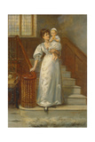 On the Staircase Giclee Print by George Goodwin Kilburne