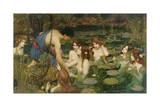 Hylas y las ninfas, 1896 Lámina giclée por John William Waterhouse