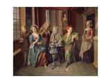 A Tea Party, C.1720 Giclée-Druck von Joseph Van Aken