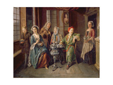 A Tea Party, C.1720 Giclee Print by Joseph Van Aken