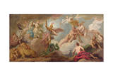 The Victory of Apollo, C.1716 Giclee Print by Sir James Thornhill