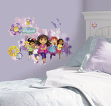 Dora and Friends Peel and Stick Wall Graphix Giant Wall Decals Muursticker