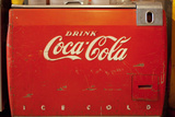 Vintage Drink Coca Cola Ice Cold Coke Vending Machine Photo Poster Plakaty