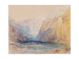 Domleschg Valley, Near Rothenbrunnen, Looking Towards Rhazuns, 1843 Giclee Print by Joseph Mallord William Turner