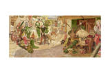 The Establishment of the Flemish Weavers in Manchester in 1363 Giclee Print by Ford Madox Brown