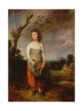 A Peasant Girl Gathering Faggots in a Wood, 1782 Giclee Print by Thomas Gainsborough