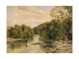 The River Tees at Rokeby, Yorkshire, C.1860 Giclee Print by Thomas Creswick
