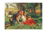 The Hireling Shepherd, 1851 Giclee Print by William Holman Hunt