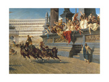 The Chariot Race, C.1882 Giclee Print by Alexander Von Wagner