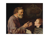 Master and Pupil, 1620 Giclee Print by Jacques II de Gheyn