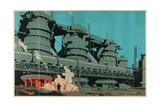 Steel Manufacturing in the United Kingdom Giclee Print by Frank Newbould