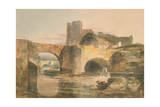 Brecon Bridge and Castle, C.1795 Giclee Print by Joseph Mallord William Turner