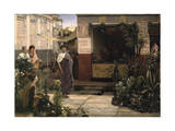 A Roman Flower Market, 1868 Giclee Print by Sir Lawrence Alma-Tadema