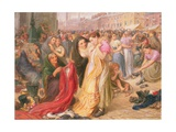 Factory Girls at the Old Clothes Fair, Knott Mill, 1875 Giclee Print by Frederic James Shields