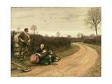 Hard Times, 1885 Giclee Print by Sir Hubert von Herkomer