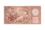 50 Crown Banknote of the Republic of Czechoslovakia, 1931 Giclee Print by Alphonse Mucha