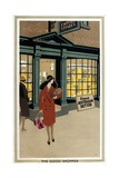 The Good Shopper, from the Series 'Empire Buying Makes Busy Factories' Giclee Print by Frank Newbould