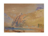 The Bastille at Grenoble from the Valley of the Isere, C.1836 Giclee Print by Joseph Mallord William Turner