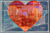 Heart Chicago Plastic Sign