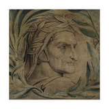 Dante Alighieri, C.1800-03 (Pen and Ink with Tempera on Canvas) Giclee Print by William Blake