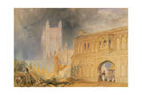 Malvern Abbey and Gate, Worcestershire, C.1830 Giclee Print by Joseph Mallord William Turner
