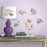 Pastel Floral Peel and Stick Wall Decals Wall Decal