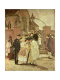 Christening Sunday (South Harting, Sussex) 1887 Giclee Print by James Charles