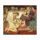 Jesus Washing Peter's Feet, 1876 Giclee Print by Ford Madox Brown
