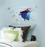 Frozen Custom Headboard Featuring Elsa, Anna & Olaf Peel and Stick Giant Wall Decals Wall Decal