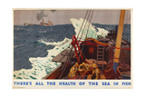 There's All the Health of the Sea in Fish, from the Series 'Caught by British Fishermen' Giclee Print by Charles Pears