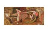 Crabtree Watching the Transit of Venus in 1639 Giclee Print by Ford Madox Brown