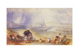 A Distant View, Rouen, C.1834 Giclee Print by Joseph Mallord William Turner