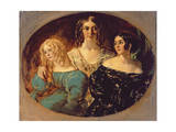 The Honourable Mrs. Caroline Norton and Her Sisters, C.1847 Giclee Print by William Etty