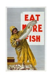 Eat More Fish, from the Series 'Caught by British Fishermen' Giclee Print by Charles Pears