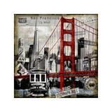 Landmarks San Francisco Giclee Print by Dylan Matthews