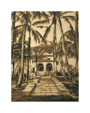 Entry to Villa Giclee Print by David Parks