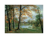A Quiet Pond Giclee Print by Albert Bierstadt