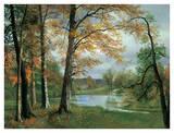 A Quiet Pond Giclee Print by Albert Bierstadt