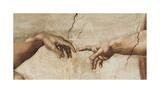 Skabelsen af Adam, ca. 1510 (detaljer) Giclée-tryk af Michelangelo Buonarroti