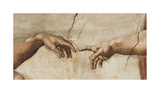 The Creation of Adam, c.1510 (detail) Giclée-Druck von  Michelangelo Buonarroti