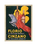 Florio e Cinzano 1930 Gicléetryck av Leonetto Cappiello