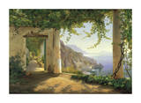 View to the Amalfi Coast Giclee Print by Carl Frederic Aagaard