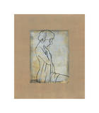 Femme Assise I Giclee Print by Dan Bennion